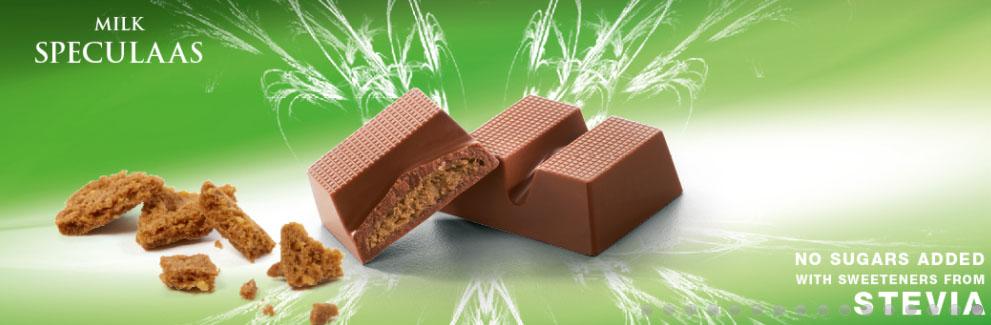 Cavalier mleczna czekolada ze stewią z nadzieniem herbatnikowym