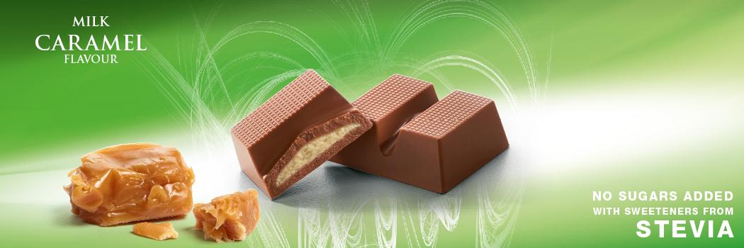Cavalier mleczna czekolada ze stewią z nadzieniem karmelowym