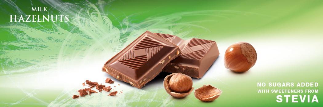 Cavalier mleczna czekolada ze stewią z orzechami laskowymi