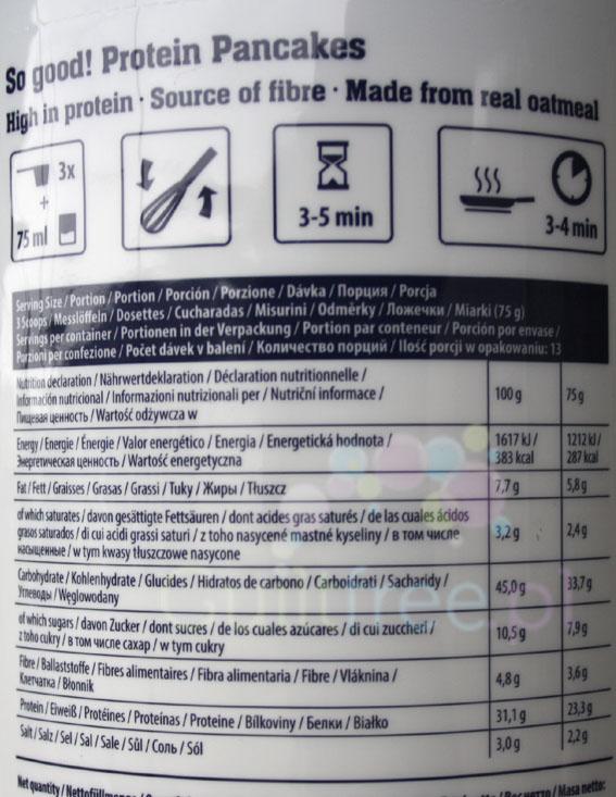 FA So Good! Pancakes Blueberry - wartości odżywcze i sposób przygotowania
