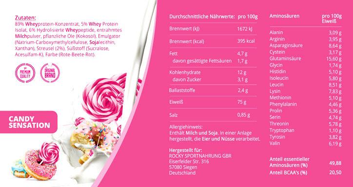 GymQueen Candy Sensation odżywka białkowa bez glutenu i laktozy