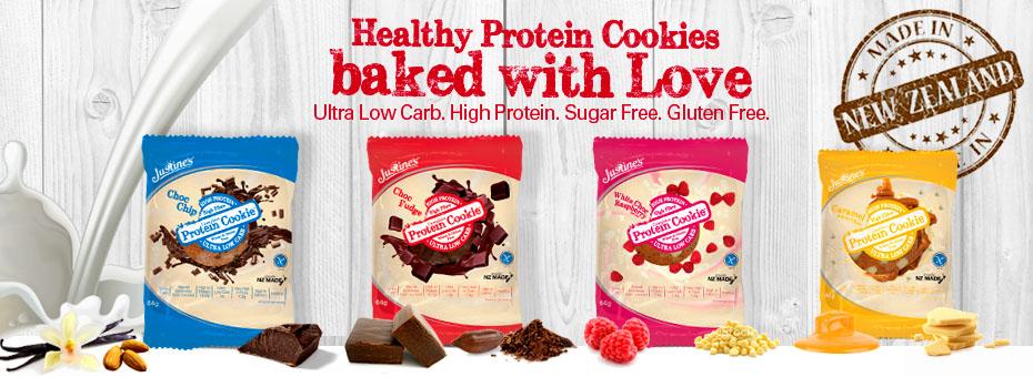 Proteinowe ciastka bez glutenu Justine's Cookies