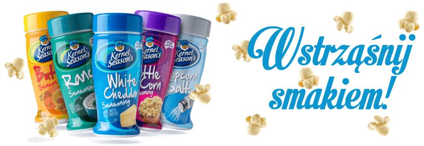 Kernel Seasons przyprawy do popcornu banner