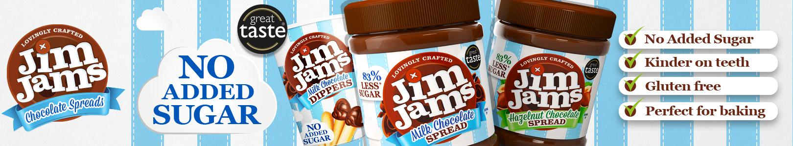 Kremy czekoladowe bez cukru Jim Jams