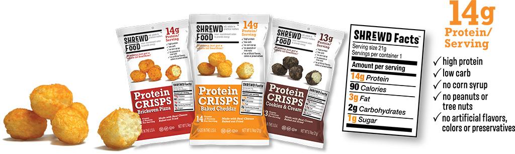 Shrewd Food Cheese Protein Crisps keto chrupki serowe