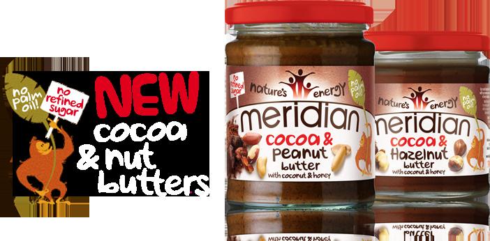 Meridian Cocoa masło orzechowe z kakao