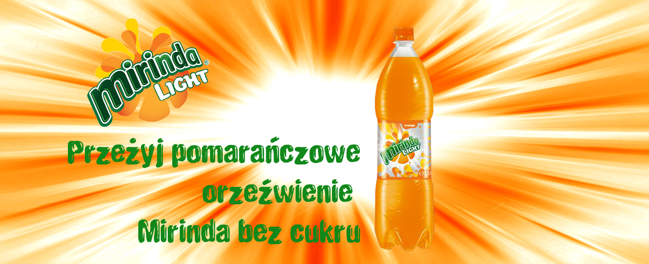 Banner Mirinda Light bez cukru