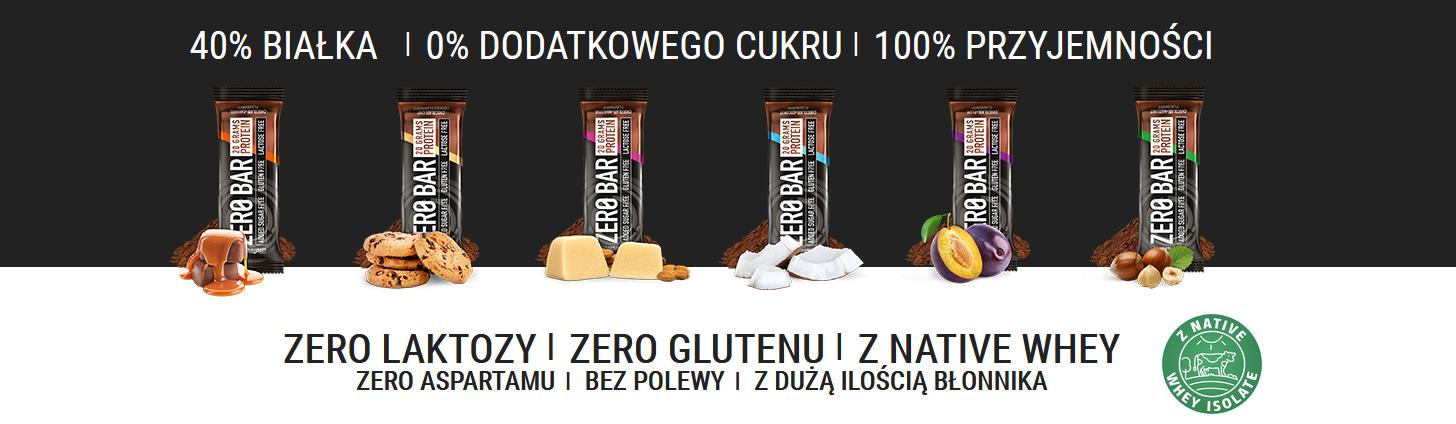 Biotech Zero Bar batony białkowe bez laktozy