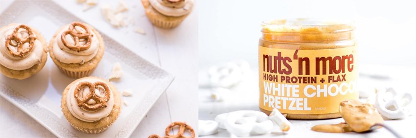 Nuts 'n More White Chocolate Pretzel protein spread with xylitol