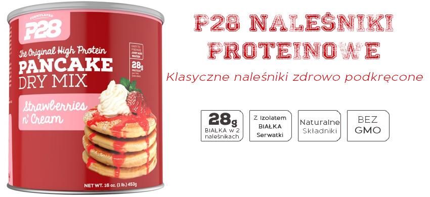 Naleśniki białkowe P28 o smaku truskawek w śmietanie
