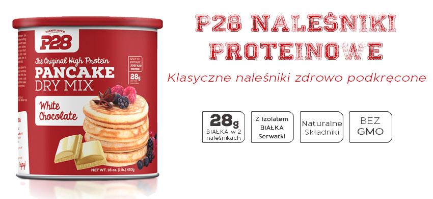 Naleśniki proteinowe P28 z białą czekoladą