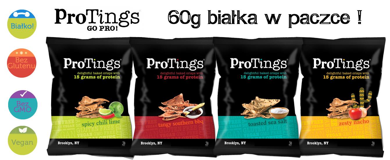 Chipsy białkowe ProTings - banner