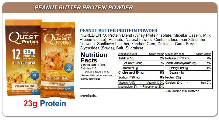 Odżywka białkowa Quest o smaku masła orzechowego