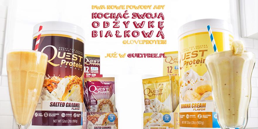 Odżywka białkowa Quest Banana Cream i Salted Caramel - banner Guiltfree.pl