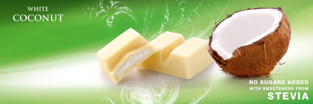 Cavalier biała czekolada bez cukru z kokosem