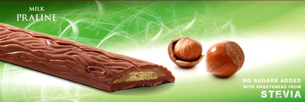 Cavalier mleczna czekolada ze stewią z nadzieniem pralinkowym