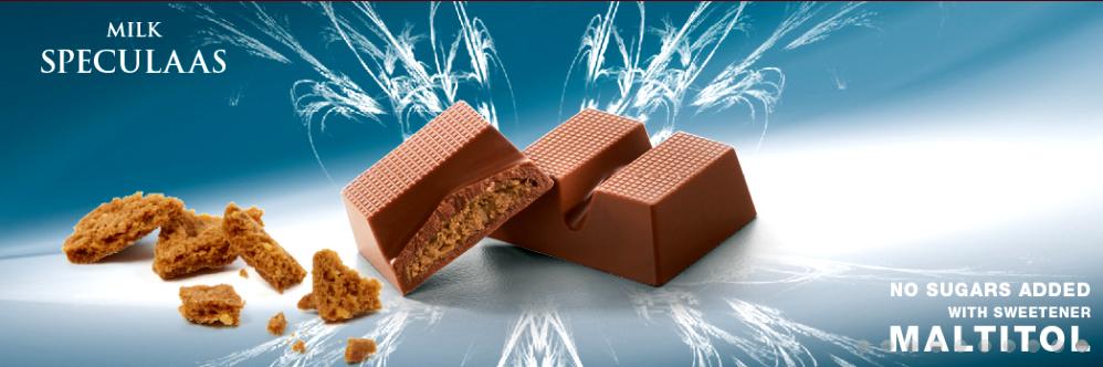 Cavalier mleczna czekolada bez cukru słodzona maltitolem, z nadzieniem z masła ciasteczkowego speculoos