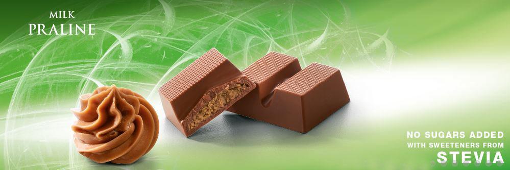 Cavalier niskokaloryczna czekolada mleczna ze stewią