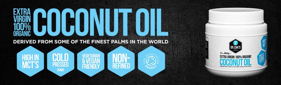 Dr Zaks Organic coconut oil - organiczny olej kokoswy extra virgin