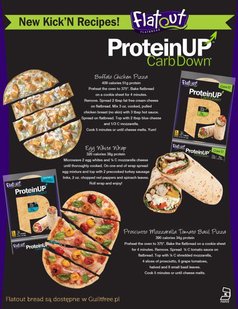Tortille białkowe Flatout - propozycje przepisów