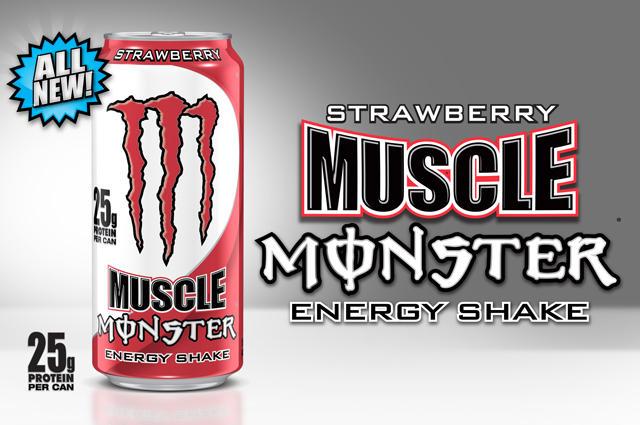Monster Energy Muscle Strawberry Shake 25g białka Polska sklep