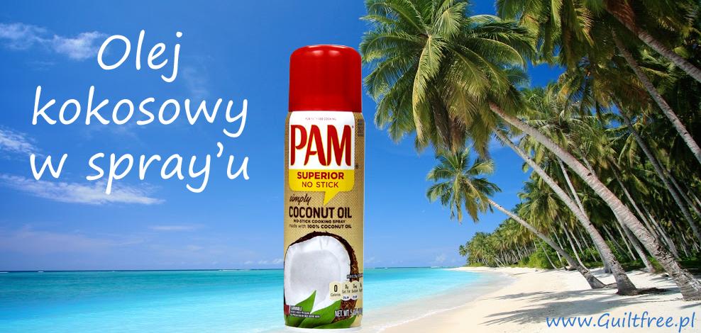 Olej kokosowy w sprayu PAM banner sklepu Guiltfree