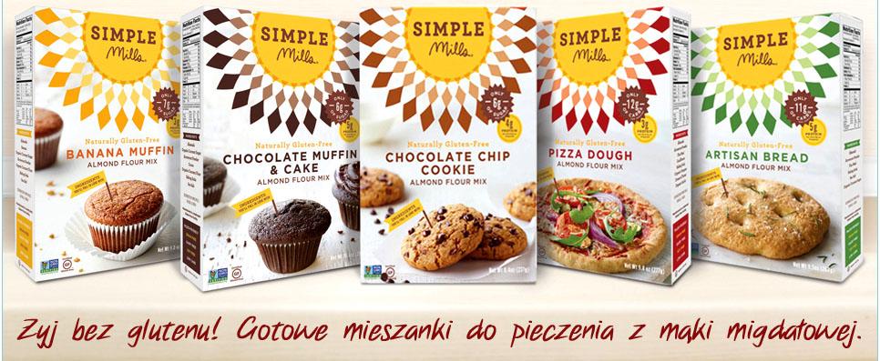 Bezglutenowe mieszanki do pizzy i chleba Simple Mills