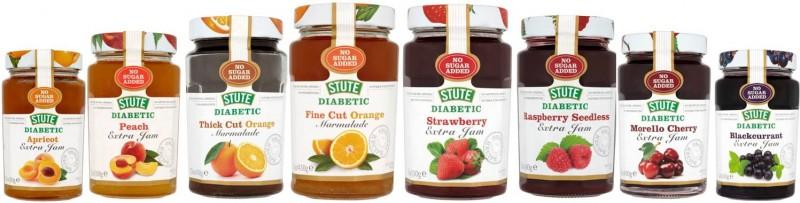 Stute dżemy dla cukrzyka, bez dodatku cukru