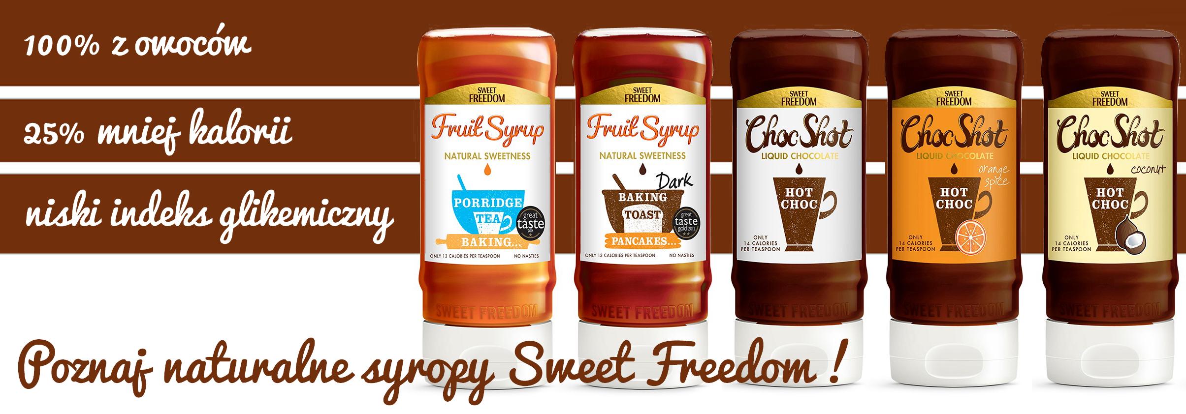 Sweet Freedom naturalne syropy bez cukru