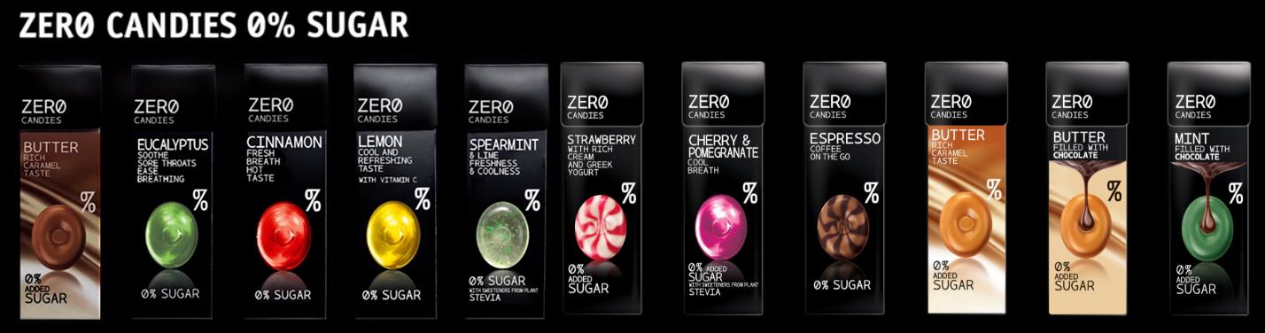 Cukierki bez cukru Zero Candies